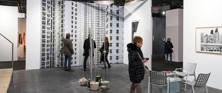 Stand du Fonds cantonal d'art contemporain à Art Genève 2017