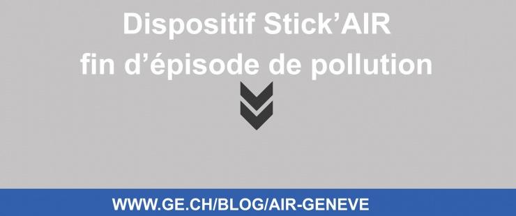 Fin du dispositif Stick'AIR et circulation différenciée