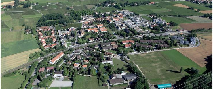 Vue aérienne de Satigny
