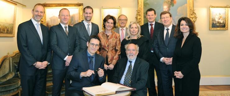 Déjeuner en l'honneur de Messieurs Michel Mayor et Didier Queloz, lauréats du Prix Nobel de Physique