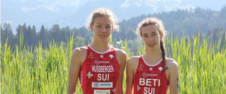 Fanny Nussberger et Rebecca Beti