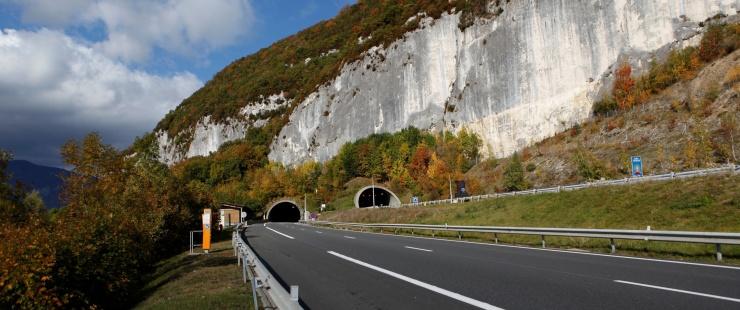 Tunnel du Vuache sur l'A40