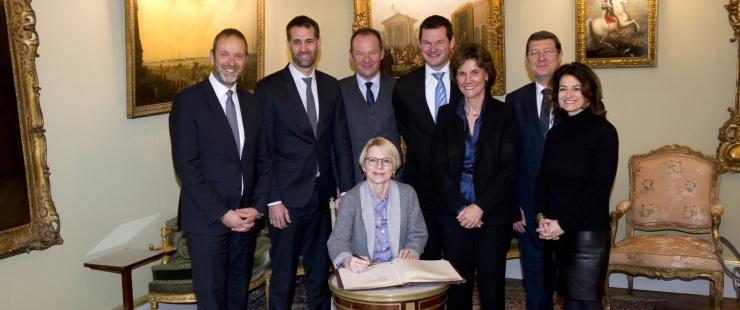 Déjeuner de courtoisie en l'honneur de Madame Livia LEU, Ambassadrice de Suisse auprès de la France et de Monaco
