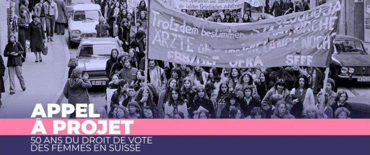 manifestation pour le droit de vote des femmes en Suisse