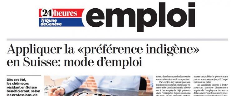 """Appliquer la """"préférence indigène"""" en Suisse : mode d'emploi"""