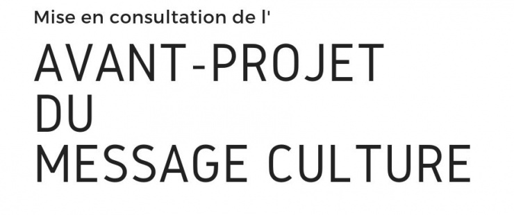 Mise en consultation du Message culture