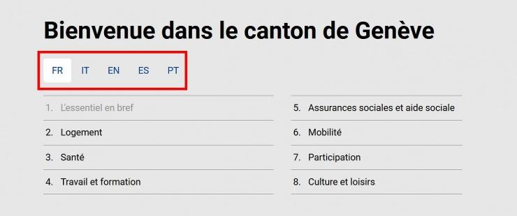Bienvenue dans le canton de Genève