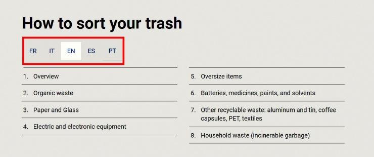 """""""Comment trier ses déchets"""""""