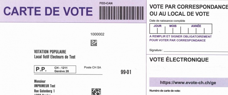 carte vote électronique