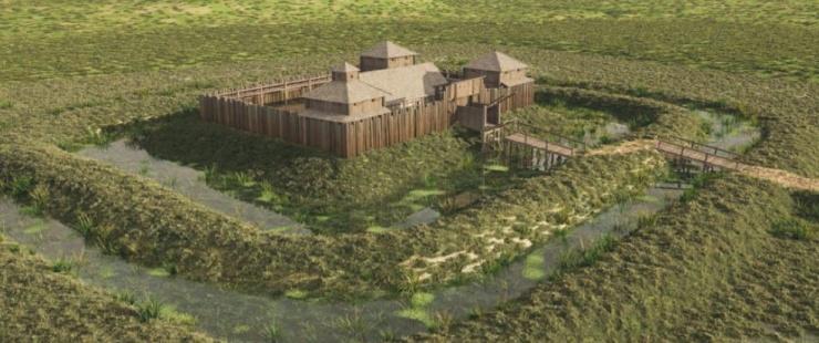 Reconstituttion du château de Rouelbeau