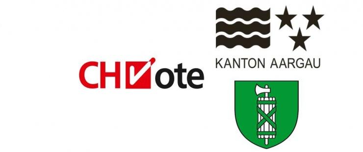 Logos CHVote, Argovie et Saint-Gall