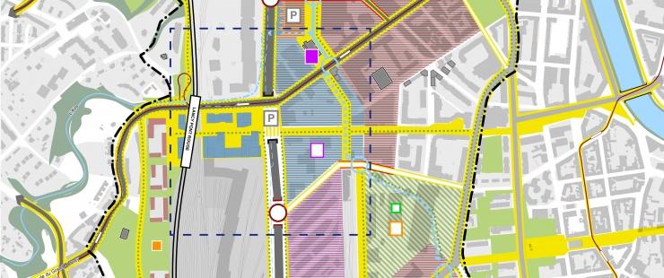 plan de synthèse du PQD Praille Acacias Vernets