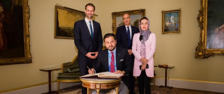 Visite de coutoisie de S.E. Monsieur l'Ambassadeur Nasir Ahmed ANDISHA, Représentant permanent de la République islamique d'Afgh