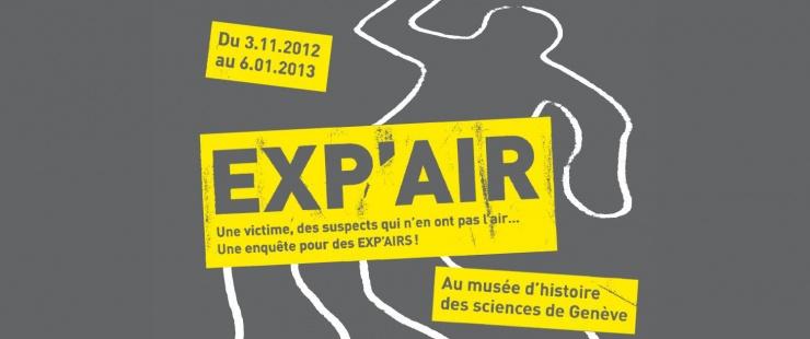 Affiche de l'animation au Musée d'Histoire des Sciences de Genève