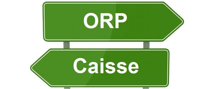 Quelle est la différence entre l'ORP et la caisse de chômage ?