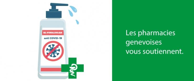 COVID-19 - distribution de gel hydroalcoolique par les pharmacies genevoises