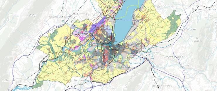 Carte du schéma de la 1re mise à jour du PDCn 2030