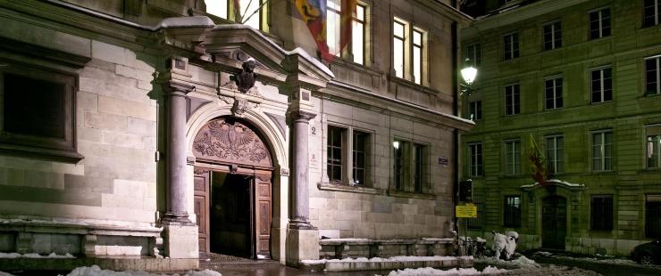 L'Hôtel de Ville sous la neige