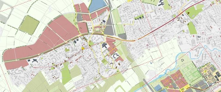 Extrait du plan guide - grands projets Bernex et Cherpines