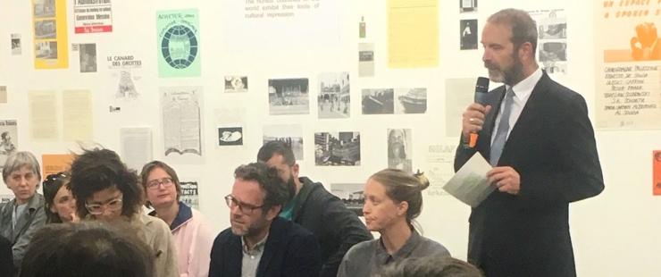 Thierry Apothéloz lors de la table ronde sur le statu des artistes
