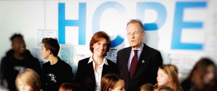 Anne Emery-Torracinta et Michael Moller, Directeur général de l'Office des Nations Unies