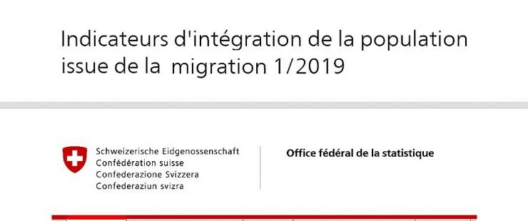 Indicateurs d'intégration 1/2019
