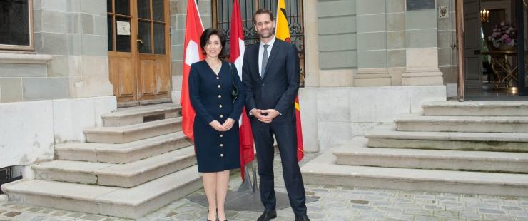 Visite de courtoisie de S.E. Madame l'Ambassadeur Silvia Elena ALFARO ESPINOSA, Représentant permanent du Pérou auprès de l'ONU