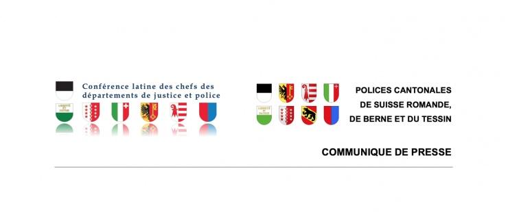 Armoiries des polices cantonales de Suisse romande, de Berne et du Tessin