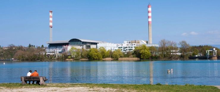 Retenue de Verbois, usine des Cheneviers. (c) Etat de Genève - David Mayenfisch
