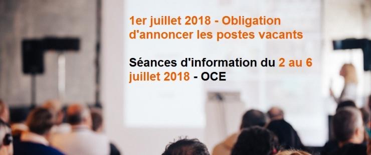Recruteurs, venez vous informer à l'OCE !
