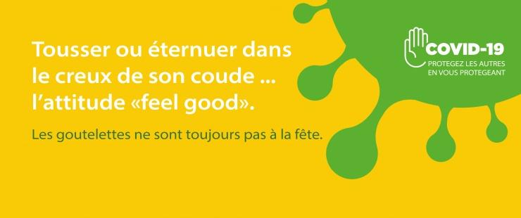 """Tousser ou éternuer dans son coude, l'attitude """"feel good"""""""