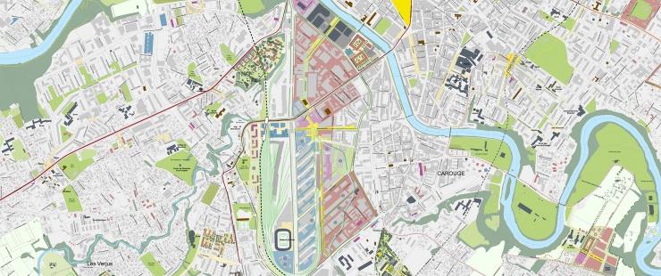 Plan guide du grand projet Praille Acacias Vernets