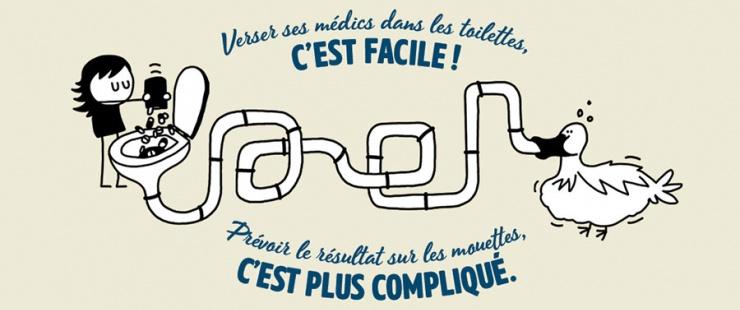 Verser ses médics dans les toilettes, c'est facile ! Prévoir le résultat sur les mouettes, c'est plus compliqué.
