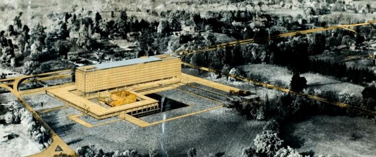 Jean Tschumi architecte, concours pour le siège de l'OMS, 1960 / © Archives OMS-WHO, Genève
