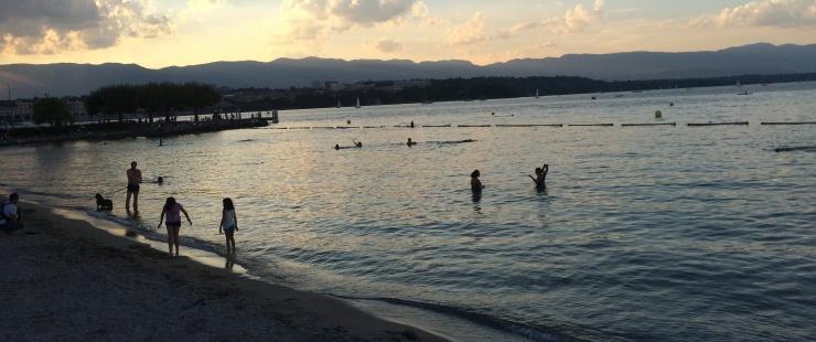 Se baigner à Genève