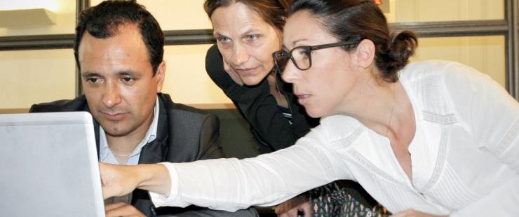 Tito Espinoza, Dorothée Zarjevski et Caroline Widmer