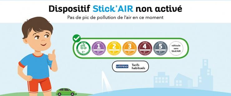 Aujourd'hui dispositif Stick'AIR non activé