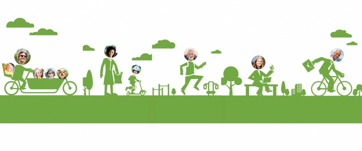 Usagers de la voie verte
