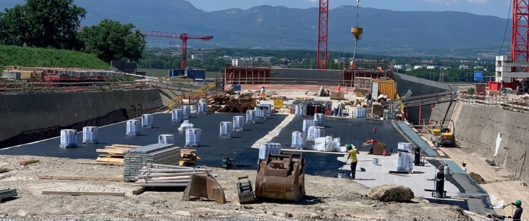 Chantier route des Nations juin 2020