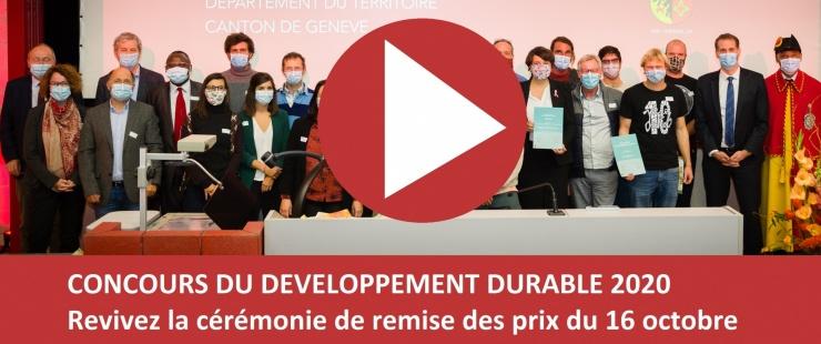Cérémonie du concours du développement durable 2020
