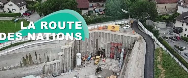 Visuel du chantier de la route des Nations juin 2018