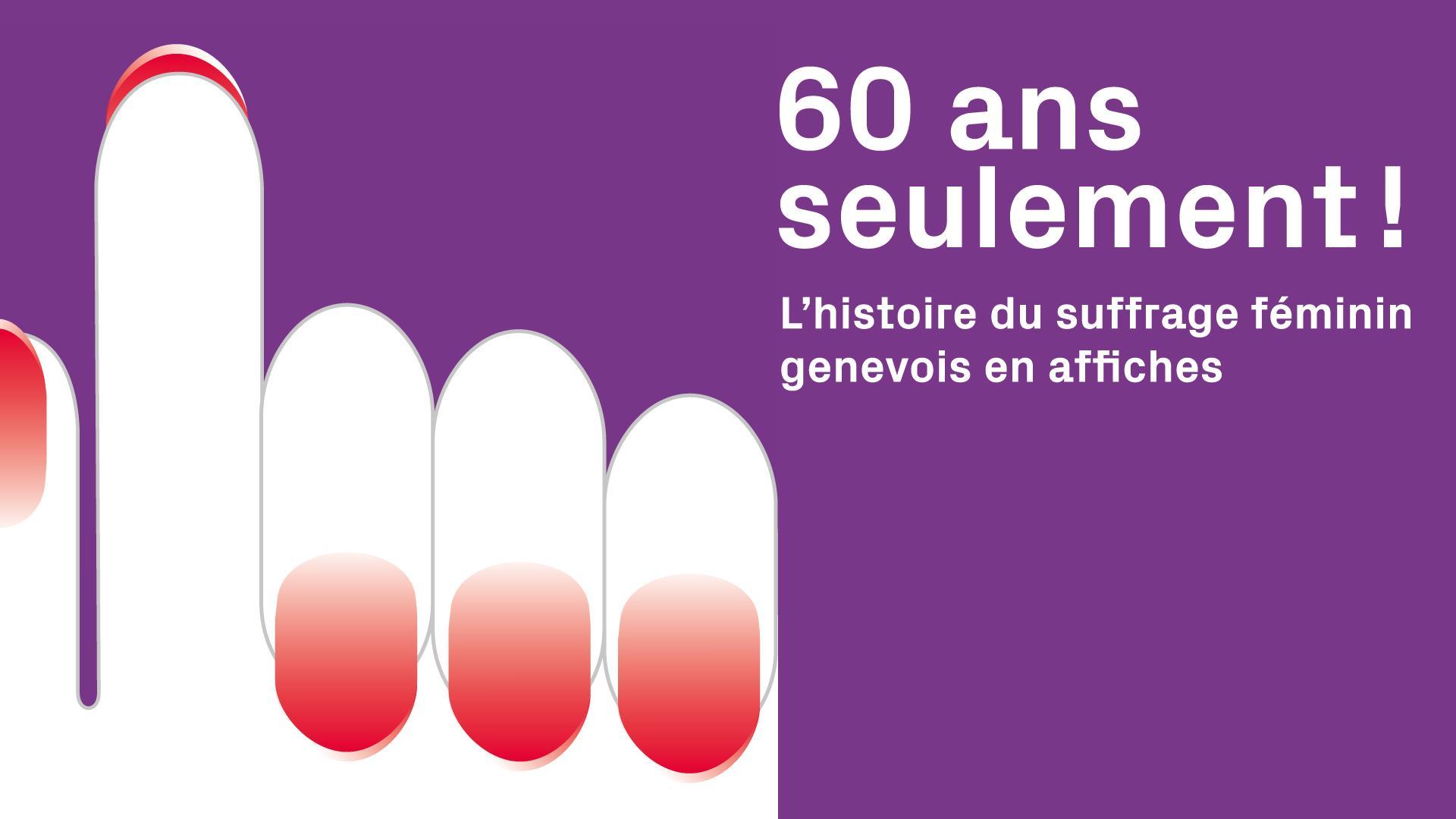 """Exposition """"L'histoire du suffrage féminin genevois en affiches"""" au Parc des Bastions"""