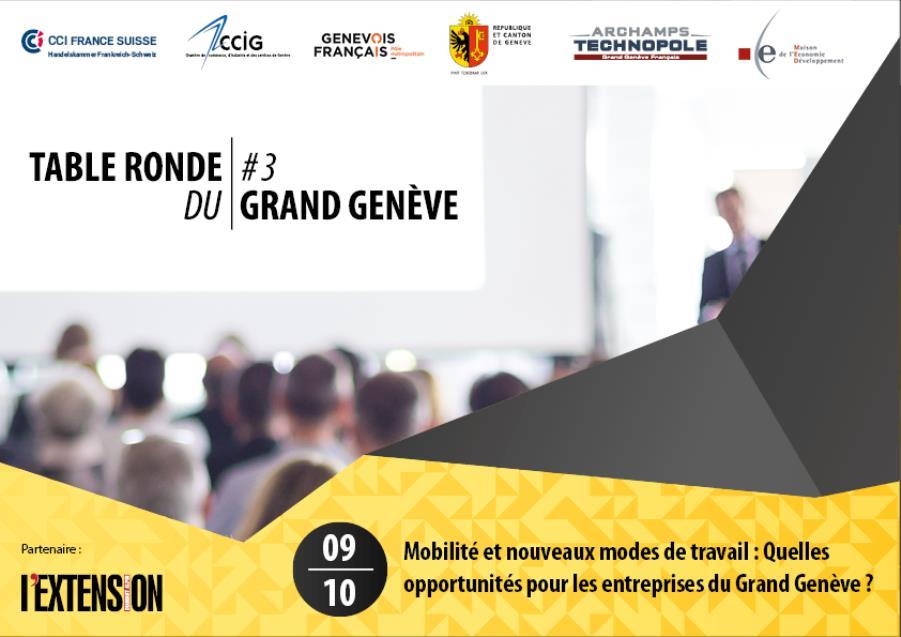 Mobilité et nouveaux modes de travail: Quelles opportunités pour les entreprises du Grand Genève ?