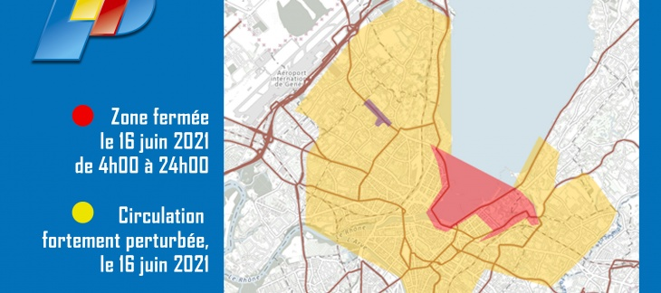 Carte avec les restrictions de circulation